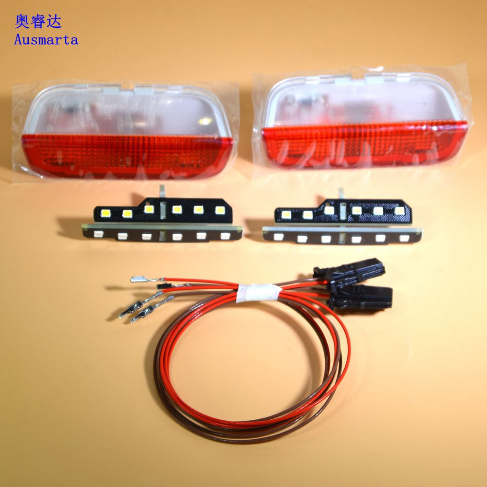 4X OEM CAR PARTS Door Warning Lights interior LAMPLIGHT+LED The vehicle door For VW Golf Jetta MK5 6 Passat B6 7 CC 3AD 947 411 1pcs car door plate warning lights for vw cc sharan touareg passat cc b6 b7 golf jetta mk5 mk6 seat alhambra 3ad 947 411