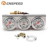 """CNSPEED 2"""" Amp Gauge Water Temp Oil Pressure meter Triple Auto Gauge Set with sensor YC101323"""