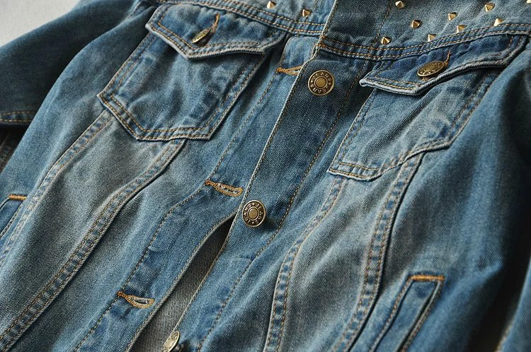 Était Rivets Version Tempérament Printemps Courte Moto Mince La Manteau Bleu Rue Denim 2018 Été Féminin Mode Veste Nouvelle Femelle De PfSzAW0z