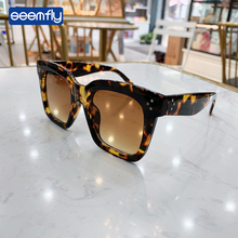 Seemfly Square Shade leopard For women Fashion Sunglasses Brand Vintage Retro Street Sun Glasses UV400 Male Female