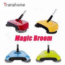 Popular Hand Push Sweeper Stainless Steel Handle Magic Broom Eco-Friendly Sweeping Machine Household Cleaning Tools
