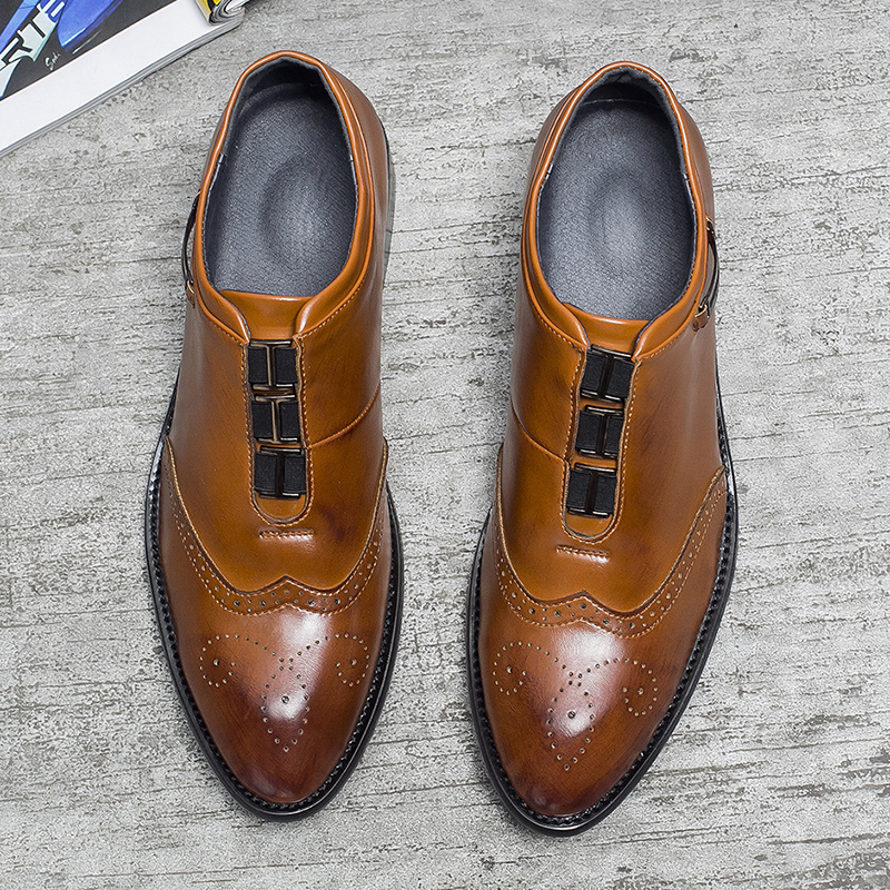 2019 New Leather Shoes Dress Shoes For Men Comfortable Leather Shoes For Men Casual Flats Business Formal Shoes
