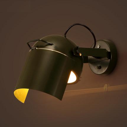 Loft Style Can Rotate LED Wall Lamp Industrial Vintage Wall Light Fixtures For Dining Room Iron Wall Sconce Indoor Lighting