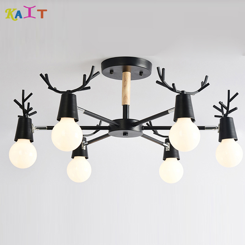 Solid Wood Pendant Lights E27 With Iron Lampshade For Living Room Modern LED Multicolour Dining-room Pendant Lamps