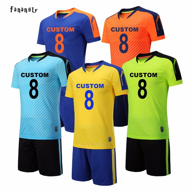 f4771b2a1 Soccer uniforms men college custom football jerseys soccer set breathable  football outfit kits survetement football 2018 new