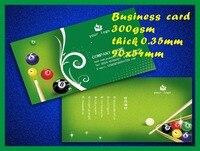 Both Side Card Printing Custom 9x5 4cm 300pcs