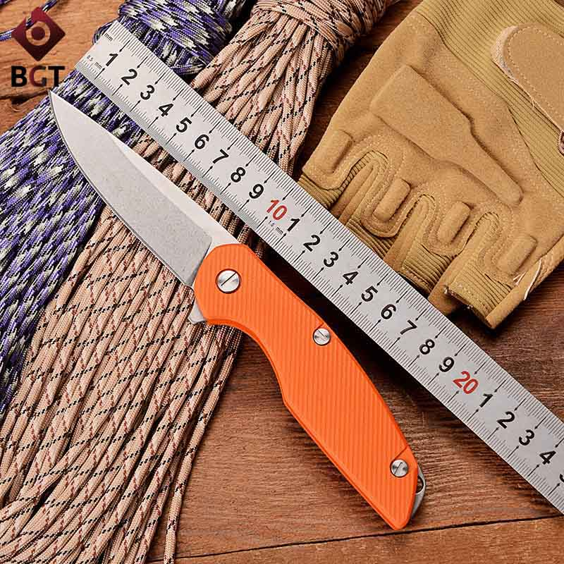 BGT 111 Combat Pocket Folding Knife D2 Blade Bearing Tactical Survival EDC Knives G10 Handle Outdoor Hunting Camping Multi Tools  цены