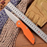 WTT 111 Combat Pocket Folding Knife D2 Blade Bearing Tactical Survival EDC Knives G10 Handle Outdoor