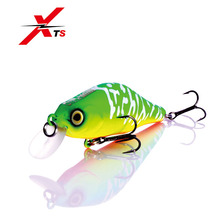 Купить с кэшбэком XTS Fishing Lure Small Crankbait Minnow Jerkbait 70mm 8g Hard Bait Fishing Wobblers With Strong Hooks Magnet System 5 Colors3504