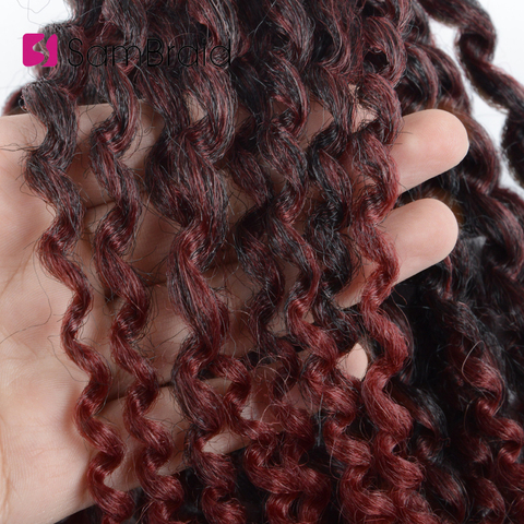 SAMBRAID kinky Twist Hair Crochet Braids 8 inches Curly Crochet Hair Ombre Braiding Hair Marlybob Synthetic Hair Extensions Karachi