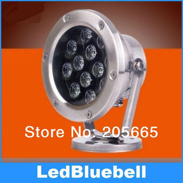 12W 24V LED Underwater Lights boat Waterproof IP68 for fountain and swimming pool lamp underwater lights rgb led swimming pool light 24v ip68 waterproof 27w 316 stainless steel colorful changeable fountain lamp