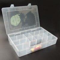 ארגז כלים גדול חלקי פלסטיק אלקטרוניים עמיד למים שקוף מקרה ארון קופסא אחסון מכולות רכיב SMD SMT בורג כלי