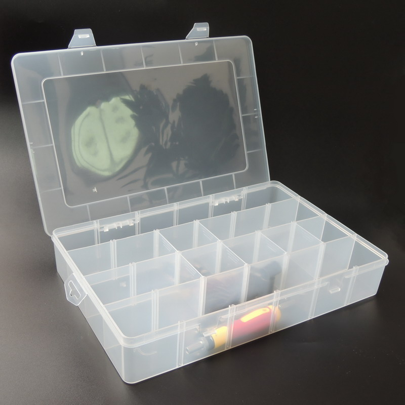 Big Toolbox Electronic Plastic Parts Waterproof Transparent Tool Box Casket SMD SMT Screw Containers Component Storage Case 12 pcs smd smt electronic component storage box yellow
