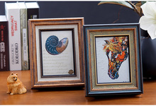 1 PCS Polystyrene Retro Photo Frame Vintage For Picture Rectangle 4/6/7/8/10 Inch Creative Living Room