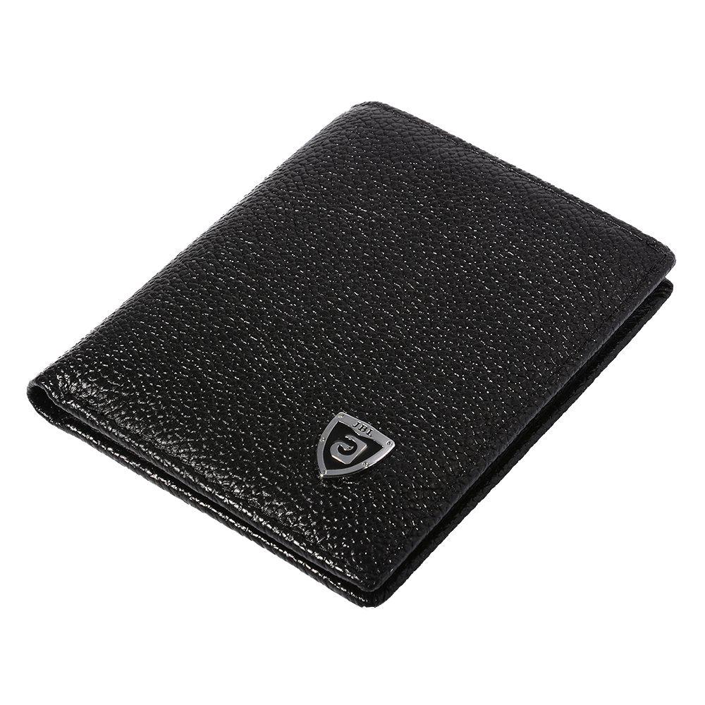 цена ASDS JINBAOLAI Men's Wallet Imitation leather Super Slim Billfold Black With 3 Credit Card Slots + 1 ID Window онлайн в 2017 году