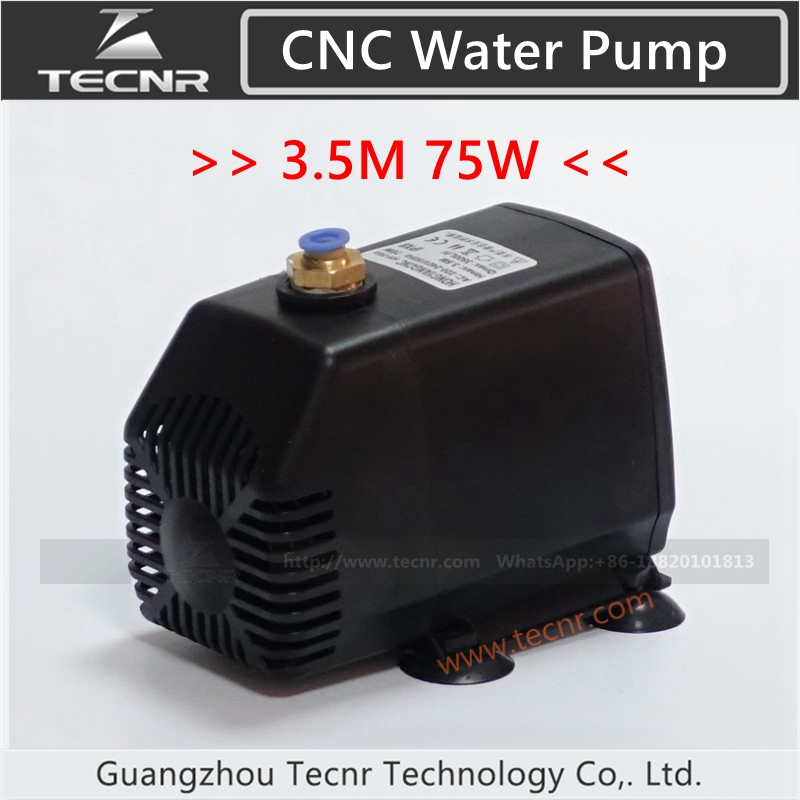 75W pump submersible water pump 220V 75W 3.5M for cnc router 2.2kw and 1.5kw spindle motor