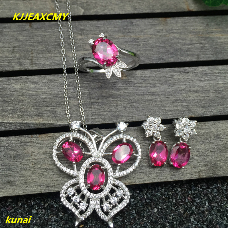 KJJEAXCMY boutique jewels 925 silver inlay natural Pink Topaz Ring Pendant Earrings 3 suit jewelry necklace sent qebu kjjeaxcmy boutique jewels 925 silver inlay natural pink topaz ring pendant earrings bracelet 4 suit jewelry necklace sen