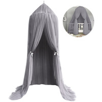 Baby Kids Round Dome Bed Canopy Mosquito Netting Tent Curtain Cover Hammock Home Bedroom Decoration