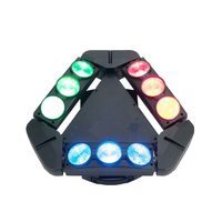 New 9 Eye RGBW Spider Light LED Moving Head Bar Light 9LED Moving Beam Laser Bar