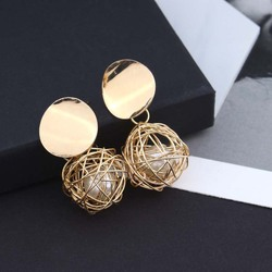 Fashion statement earrings 2018 ball Geometric earrings For Women Hanging Dangle Earrings Drop Earing modern Jewelry
