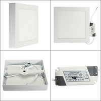110v 220v + LED Drive,24w Square thin wall Surface Mount Ceiling led Light lamp SMD 2835 downlight fashion brief