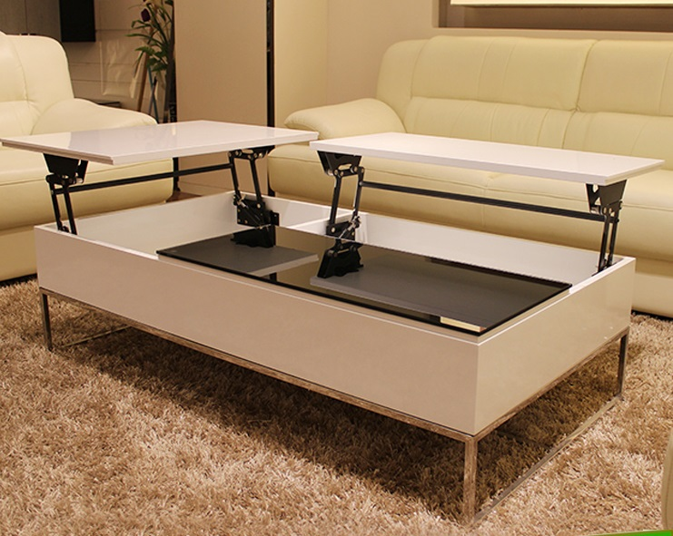 Soft Close Folding Coffee Table Lift Mechanism Table Parts With Pop Up Function Laptop Table