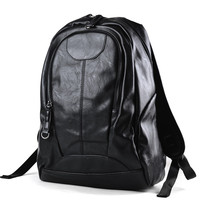 New Arrival Men Backpacks High Grade PU Leather Fashion Travel Bags Scientific Carrying System Backpack Mochila