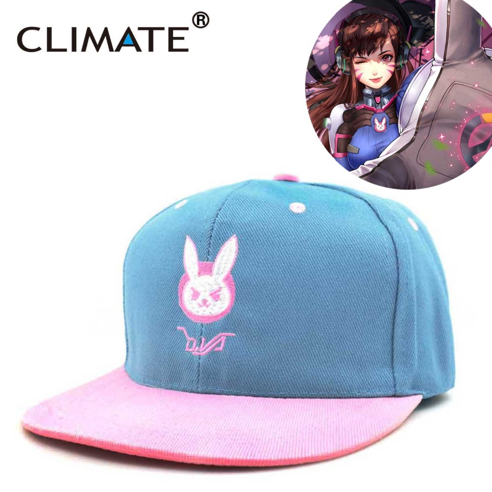 CLIMATE 2018 New Hot Game Lovely Cute D.VA DVA HipHop Snapback Caps Young  Youth Women Girls Pink Sky Nice Snapback Hat Caps d248a16f836