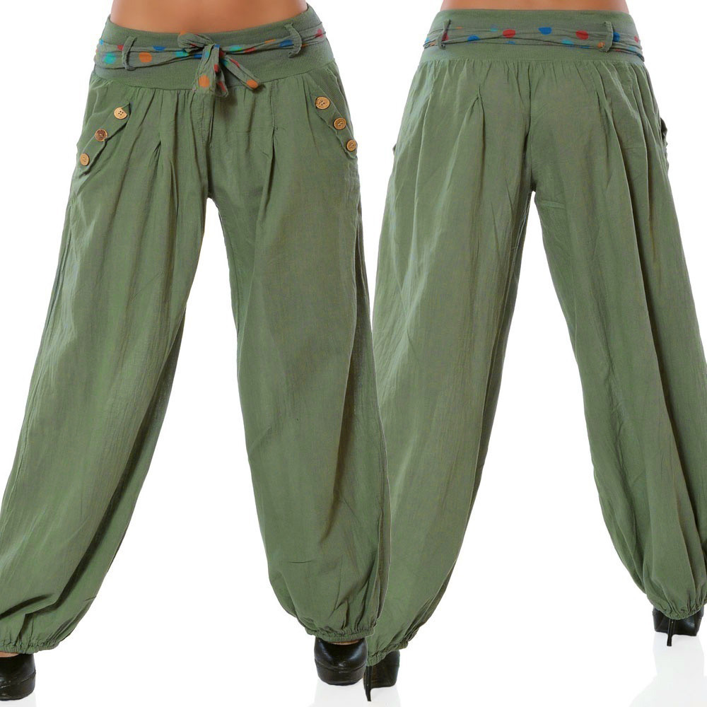 2018 Fashion Hot New Women Solid Low Waist Boho Check   Pants   Baggy   Wide     Leg   Casual Capris trousers for women boho   wide     leg     pants