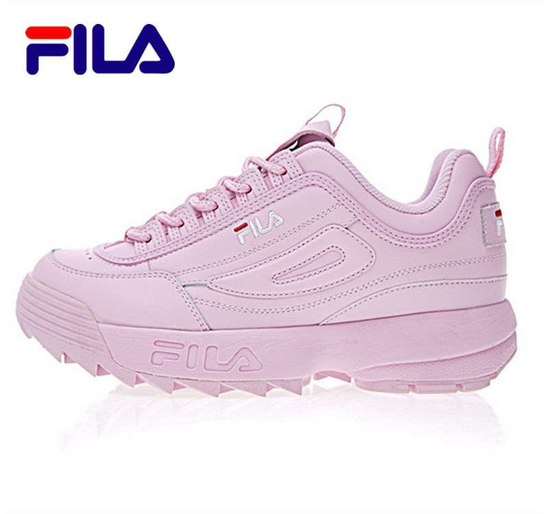 FILAS Disruptor II 2 Running Shoes Summer Sport Shoes Men Breathable  Zapatillas Women Increased Sneakers 0001-in Running Shoes from Sports    Entertainment ... fdbc8c9fbc