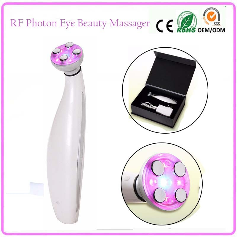 Mini RF Photon Bio Microcurrent Eye Lifting Skin Tightening Eye Wrinkle Eyebag Removal Beauty Instruments mini portable usb rechargeable ems rf radio frequency skin stimulation lifting tightening led photon rejuvenation beauty device