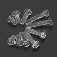 1000Pcs Transparent M4 Screws Socket Plastic Acrylic Cap Screw Wood Furniture Fastener Bolt M4 *6mm/8mm/10mm/12mm/16mm/20mm