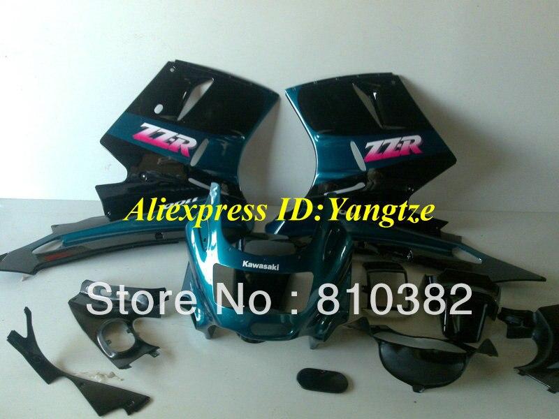 ABS Plastic Fairing kit 1993 2003 KAWASAKI Ninja ZZR1100 93-03 ZZR 1100 1993-2003 ZX-11 ZZR1100D Cyan fairings bodywork - FAIRING KIT Co. Ltd store