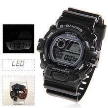 2015 SHHORS 30M Waterproof Watch Round Digital Sports Watch with Plastic Strap Week Display Alarm Clock
