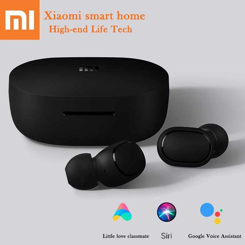 Hot Xiaomi Redmi Airdots Bluethooth Nirkabel Earphone Bahasa Kontrol Earplug Pairing Otomatis Mini Headset Smart Control