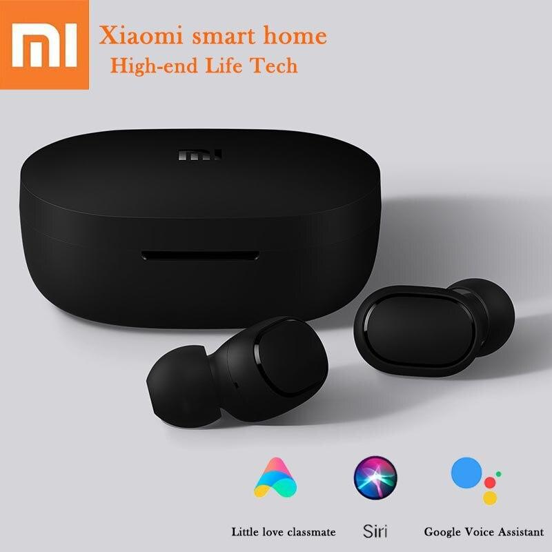 Xiaomi Redmi AirDots auriculares Bluetooth inalámbricos auriculares de Control de idioma auricular de emparejamiento automático mini auriculares de control inteligente