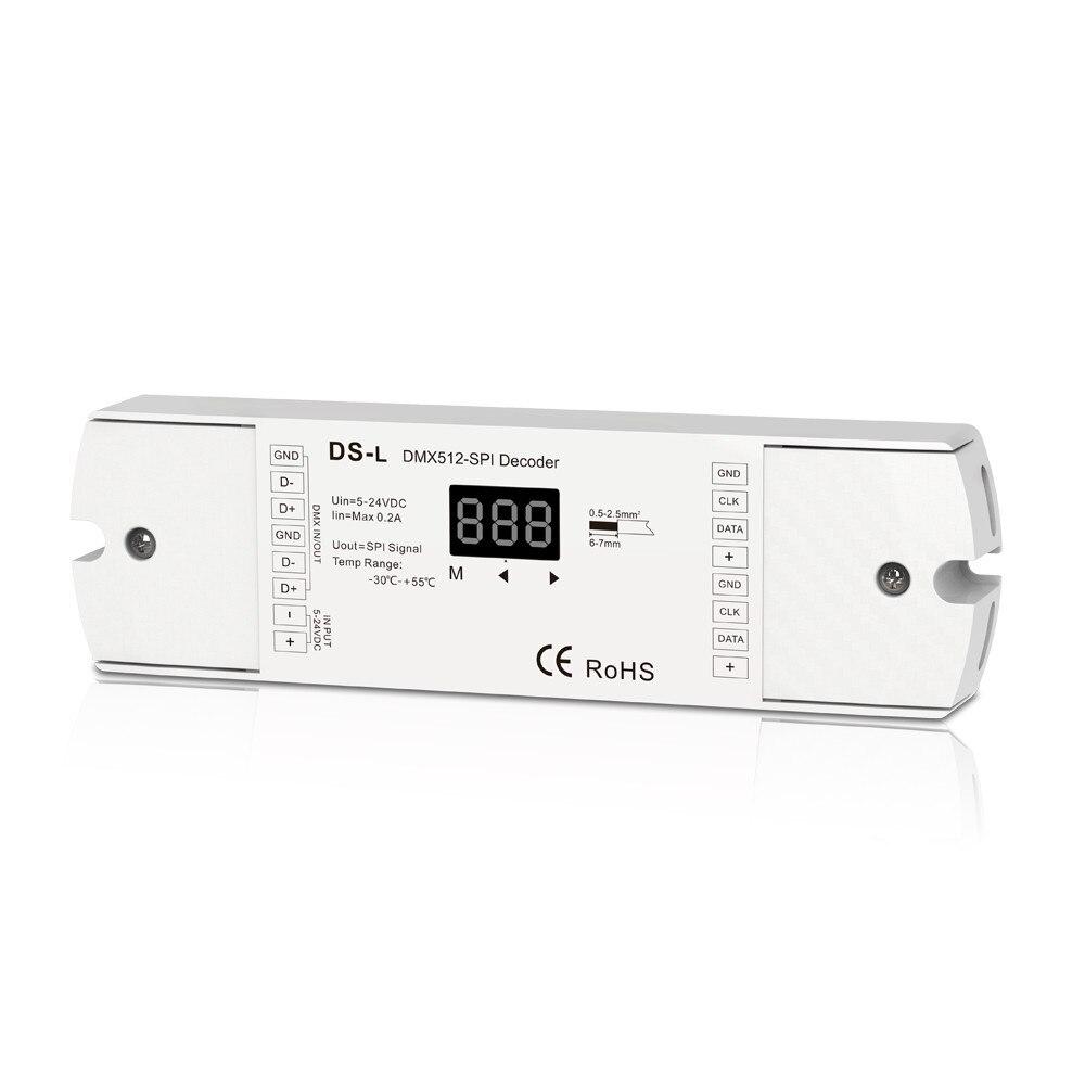 model #:DS L;DMX512 SPI Decoder; DC5 24V input; Compatible