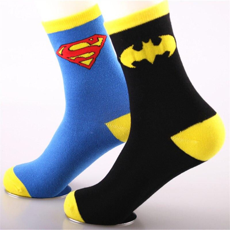 Asenmei Brand New and High Quality 1 Pair Captain America Batman Socks Mens Fashion Socken Streetboy Socks