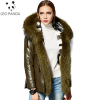 Russian Real Sheepskin Coat Women 2018 New Winter Superior quality Rabbit Fur Lining Fox Fur Collar Leather Jacket Plus Size 6XL