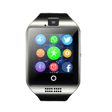 2017 New Smart Watch Q18 with Touch Screen Support SIM TF Card Facebook Sync MSG Bluetooth Smart Watches for IOS android