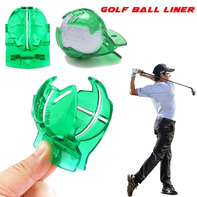 Держатель мяча для гольфа писец прозрачный мяч для гольфа зеленая линия клип Лайнер Маркер Шаблон выравнивания Знаки инструмент положить
