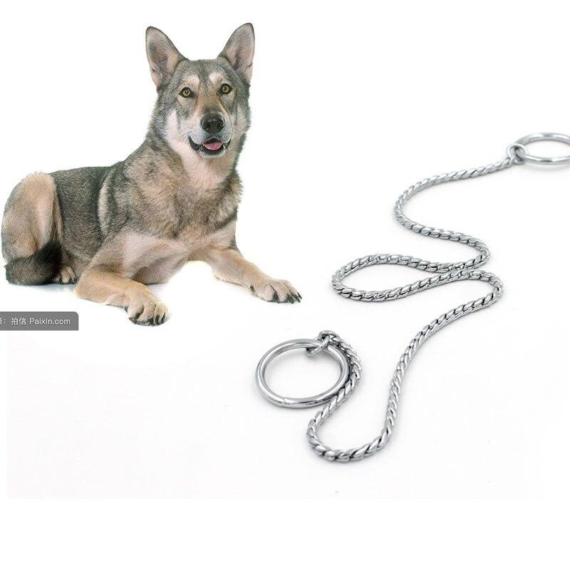 Hierro Acero inoxidable perro plateado de tracción cuerda plomo P cadena Collar para pequeños perros grandes oro/ plata