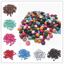 50pcs/lot Size 8mm Pick Colors AcrylicHalf Round Imation Pearls Beads Flatback Nail Art Decorate Diy