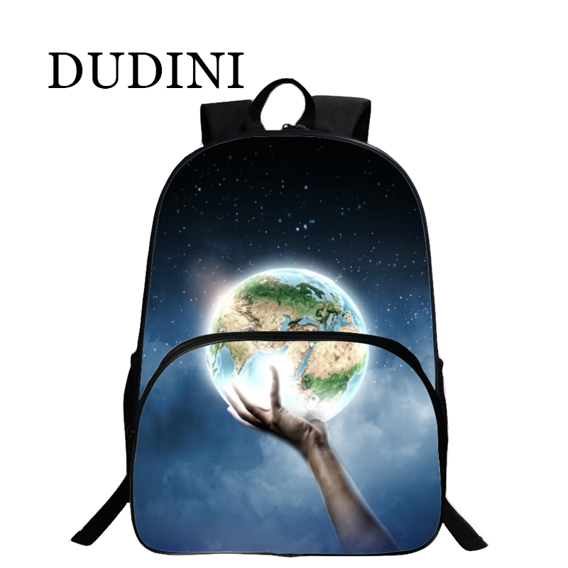 DUDINI Fashion Women Stars Moon Universe Space Printing Backpack School Book Backpacks Stars Bag Bolsas 19 Kinds Of Style fashion unisex stars universe space printing backpack school book backpacks british flag shoulder bag night sky backpacks h308