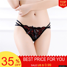 Sexy Women Underwear Panties Hollow Out Seamless Lace G-String Transparent Underpants Thongs Women Erotic Lingerie Tanga Briefs
