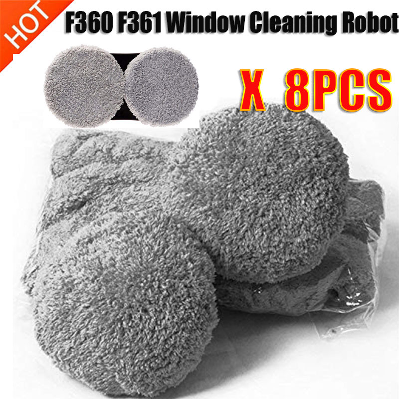Fiber Cleaning Cloth 4 Pairs For F360 F361 Window Cleaning Robot Vacuum Cleaner Washer