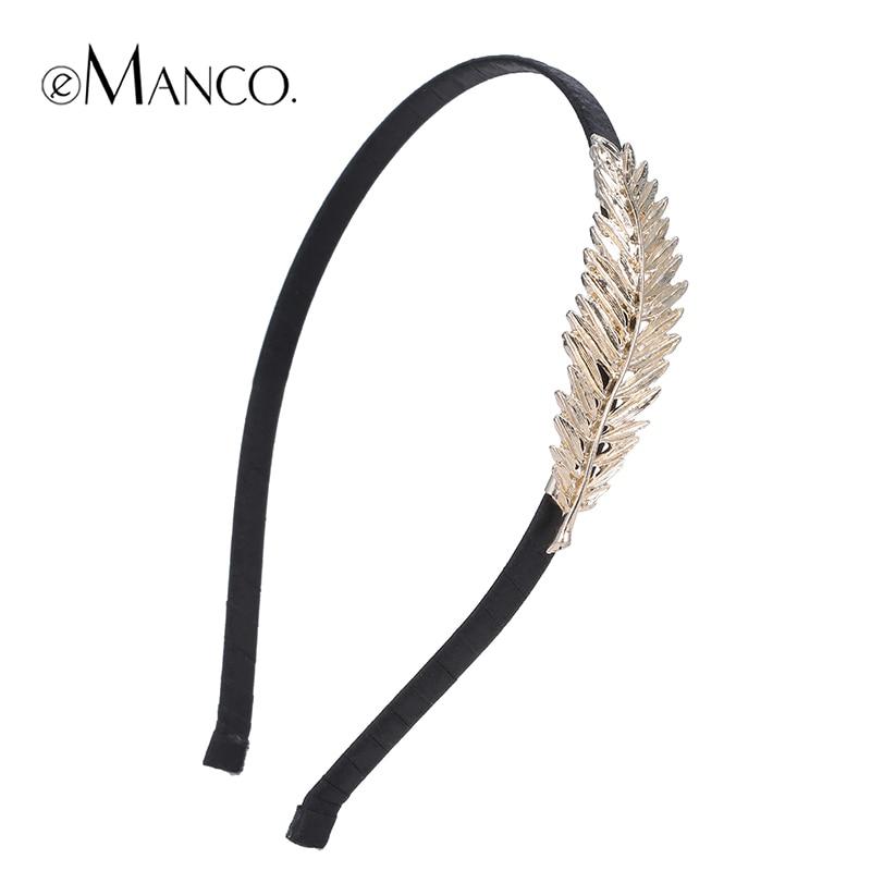 Black Headband Hair-Accessories Metal Girl Women Ribbon Emanco New-Arrivals