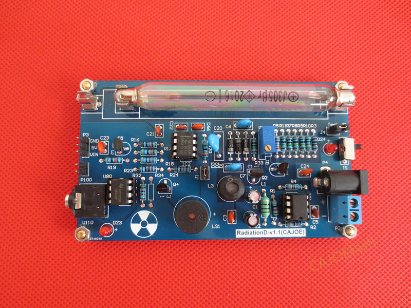 Portable Handle Geiger Counter Assembled DIY Kit Nuclear Radiation Detector With Miller tube GM tube Gamma Beta ray