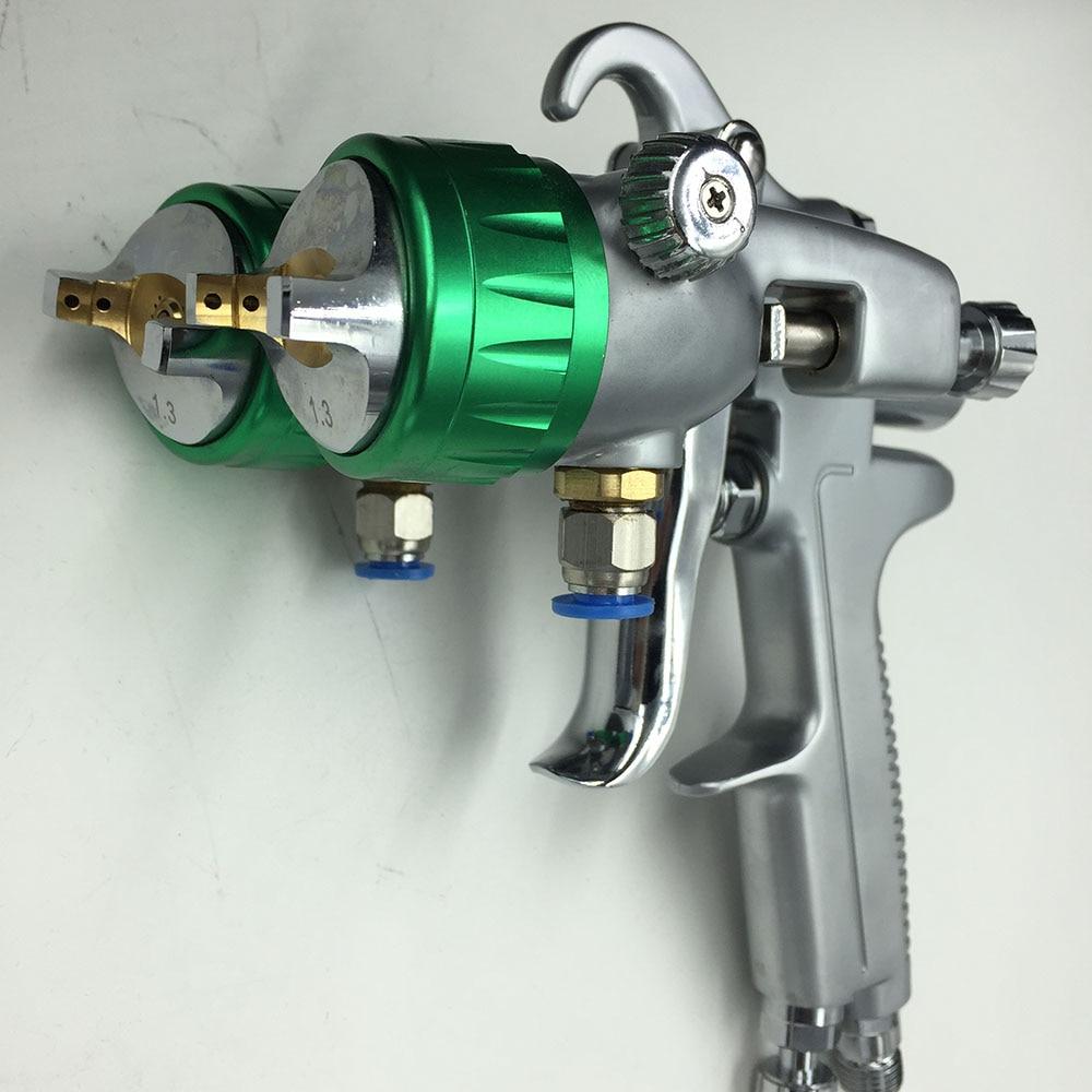 SAT1189 シルバーミラークロームスプレーペイント空気圧縮機ペイント噴霧器高圧ノズルペイントガン hvlp 1.3  グループ上の ツール からの スプレーガン の中 1