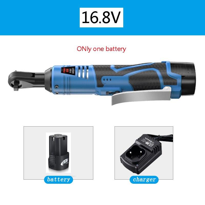 16.8V Kit Chave 3/8 chave de Catraca Sem Fio Elétrico Recarregável Andaimes 40-60NM Torque De Catraca